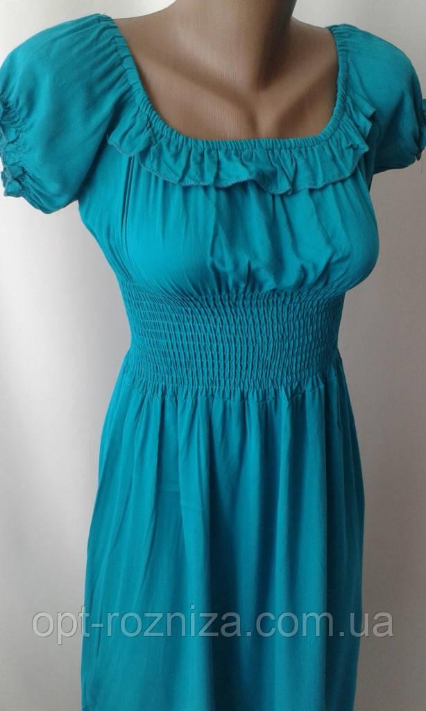 Однотонні довгі сукні на літо.