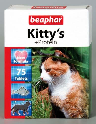 Витамины БЕАФАР Коты Киттис протеин таб №75