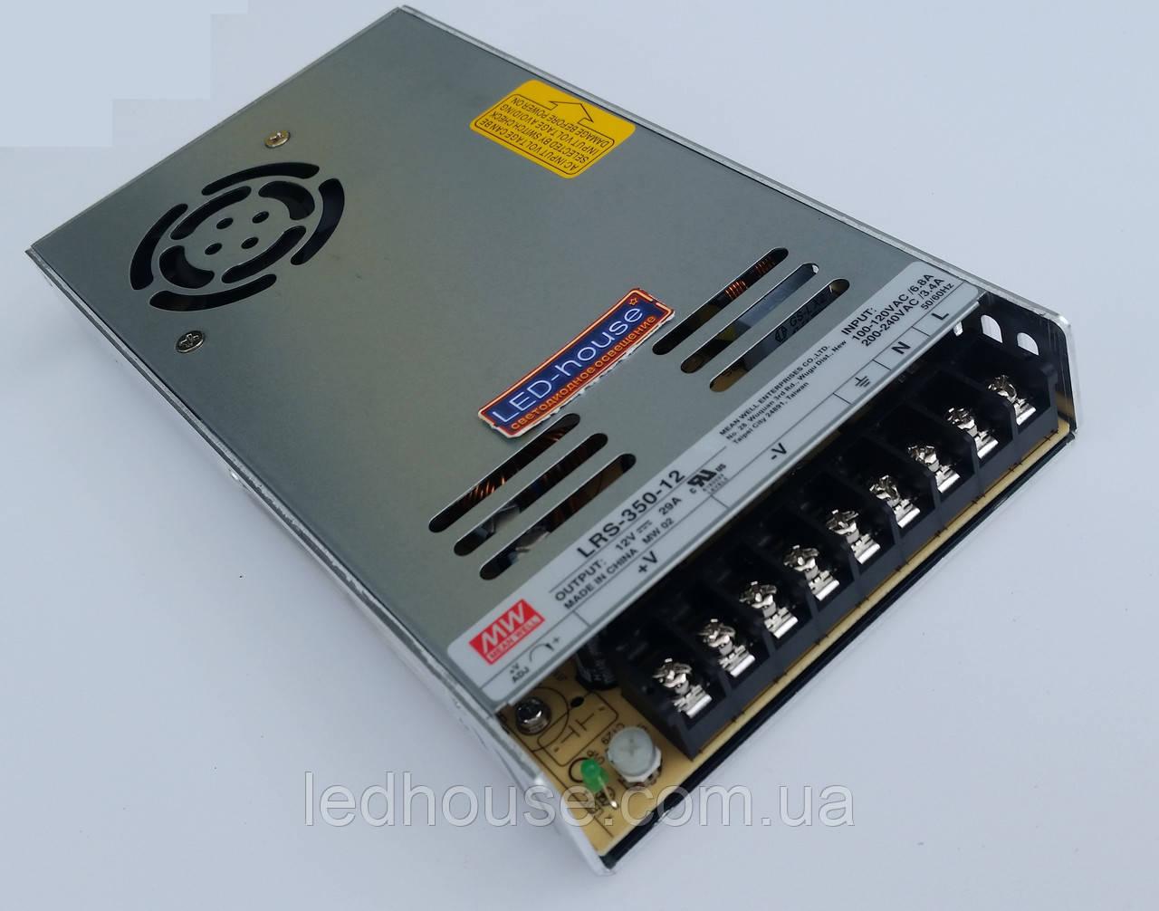 Источник питания Mean Well LRS-350-12V,(Минвел)