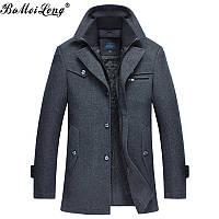 Мужское теплое демисезонное пальто. Модель 715