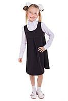 Школьный черный сарафан для девочки подростка