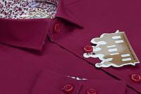 """Школьная бордовая рубашка для мальчика """"Княжич"""""""
