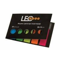 Стикеры-закладки пластиковые 5цв.*20л. LEO L1215