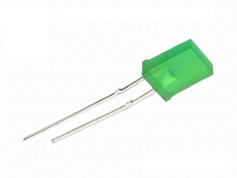 Светодиод прямоугольный 5*2 мм зеленый