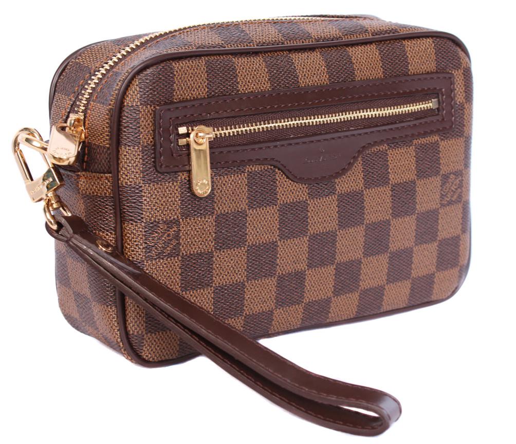 Мужской кожаный клатч 300202 коричневый