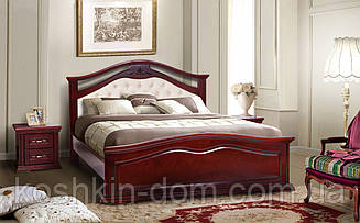 Ліжко двоспальне Маргарита 180*200 масив вільхи