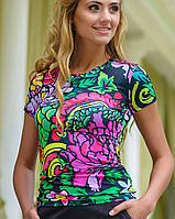 Цветная футболка | Swag пион sk