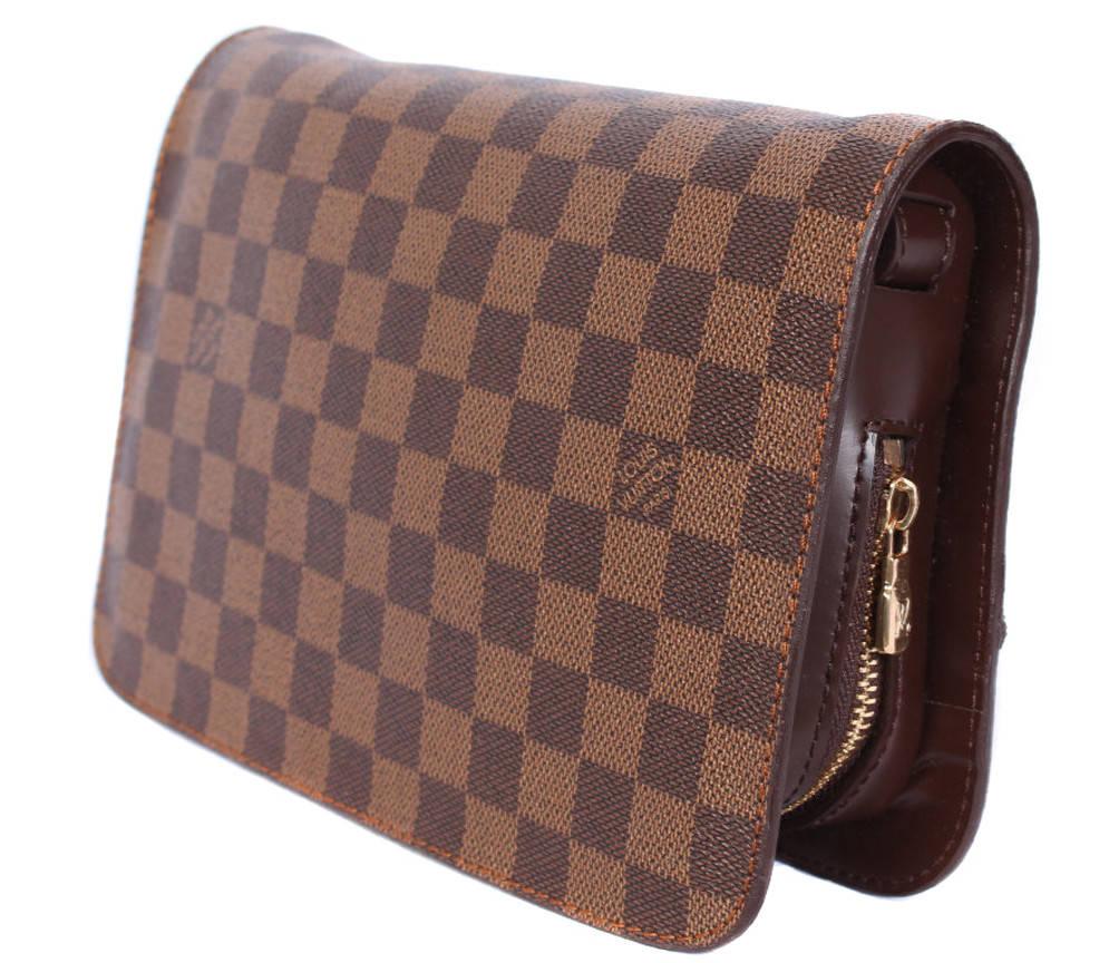 Модный клатч из качественного материала L.V. 300203 Коричневый