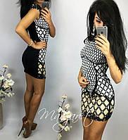 Женское шикарное мини-платье с узором