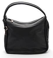 Черная женская сумка из гладкой кожи art. 7076