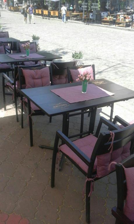 Кафе в Одессе. Текстиль в интерьере.