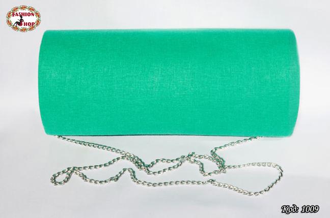 Вышитый зелёный клатч Успех, фото 2