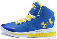 Мужские Баскетбольные кроссовки Under Armour Curry 1, андер армор кюрі 1 yellow-white-blue high