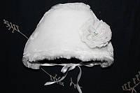 Нарядная шапка зимняя на выписку