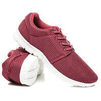 Женские кроссовки бордовые для фитнеса (беговые)