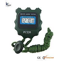 Секундомер PC220 однострочный, пластик, 3-ех кнопочный, ХАКИ.
