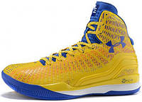 Мужские Баскетбольные кроссовки Under Armour Curry 2, андер армор кюрі 2 yellow with blue