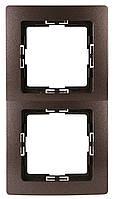 Рамка двойная палисандрово-коричневая