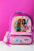 Школьный розовый рюкзак для девочки