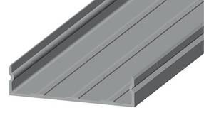 Дизайнерский базовый LED-профиль ЛНБ 50 анодированный, серебро (за 1м) Код.58701