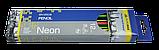 Карандаш графитовый NEON LINE HB с ластиком трехгранный Buromax, фото 3