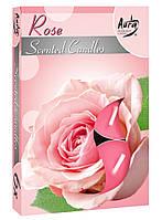 Ароматические свечи-таблетки роза Bispol p15-78