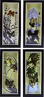Картина бабочки по временам года 140х320х30
