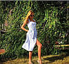 Женское летнее платье длины миди № 48-214