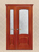 Двери из массива ольхи полуторные