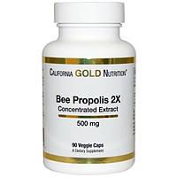 Прополис пчелиный, концентрат, укрепление иммунитета, California Gold Nutrition, 500 мг, 90 капсул