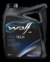 Синтетическое масло WOLF VITALTECH 5W30 ✔ емкость 4л.