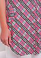 Платье-рубашка розовая в клетку  TAYLOR, фото 5