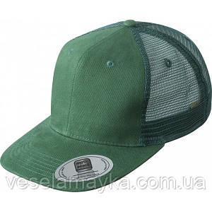 Зеленый снепбек с сеточкой (Snapback)