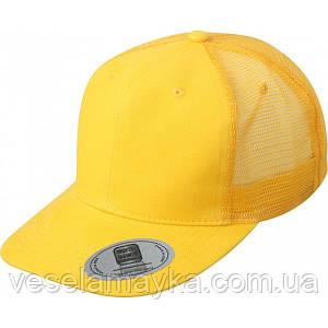 Желтый снепбек с сеточкой (Snapback)