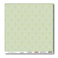 Бумага для скрапбукинга 30х30см 180г двухсторонн. «Свадебные» Нежно-зеленый