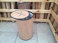 Бельевая корзина из бамбука