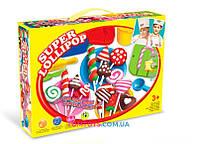 Тесто для лепки Colour Dough набор конфет Super lollipop 8202