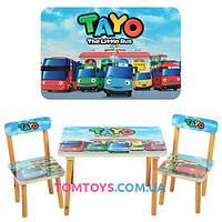 Деревянный Столик с двумя стульчиками Автобус Тайо 501-21