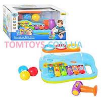 Ксилофон Бряк-Звяк Limo Toy музыкальный с молоточком 9199