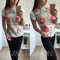 Женская футболка Роза р-06154