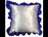 Подушка для сублимации (35*35см) атласная с цветным рюшем