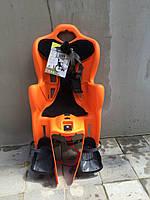 Велокресло детское BELLELLI B-One Standard за раму под седло оранжевое с черным матрасиком