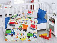 """Детское постельное бельё в кроватку Cotton Box ранфорс """"Şantiye"""""""
