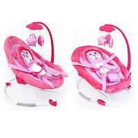 *Детский шезлонг - качалка Baby Tilly арт. BB-0002 розовый