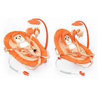 Детский шезлонг - качалка арт. BB-0002 оранжевый