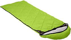 Спальный мешок Кемпинг Peak с капюшоном, зеленый