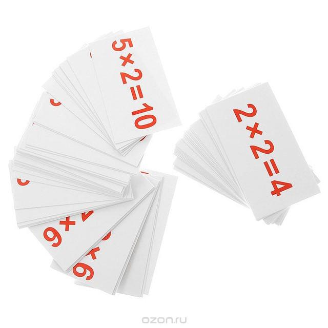 "Карточки развивающие ""умножение"