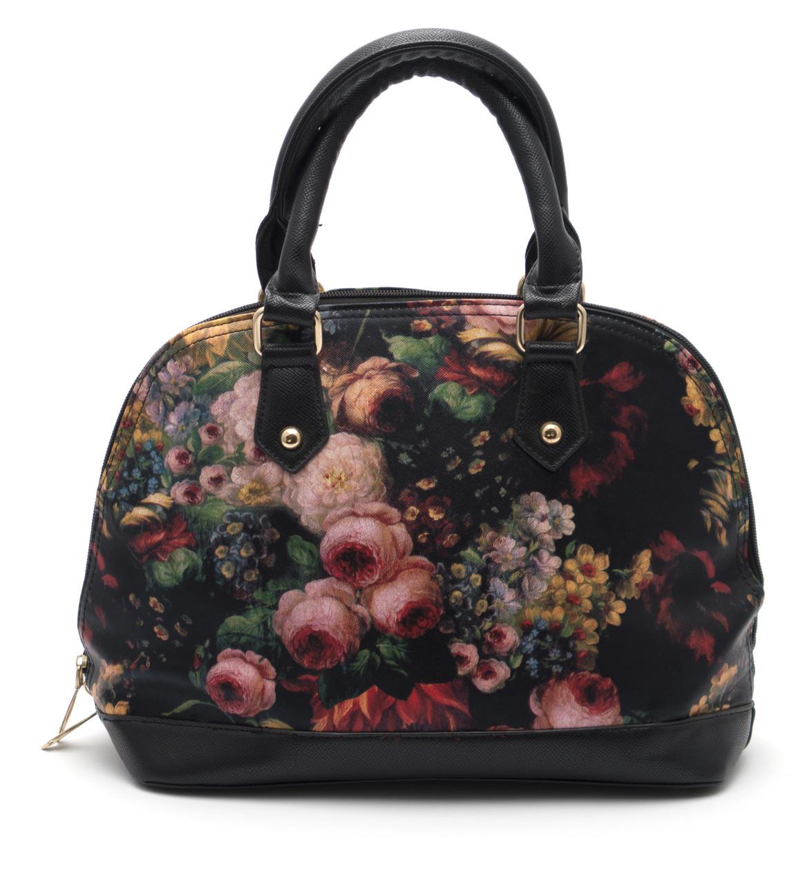 Стильная женская сумка с цветочным принтом Б/Н art. 1359-1