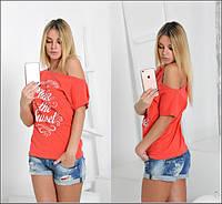 Яркая женская футболка у-06166
