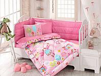 """Набор постельного белья в кроватку с бортиком и одеялом Cotton Box """"Masal"""""""
